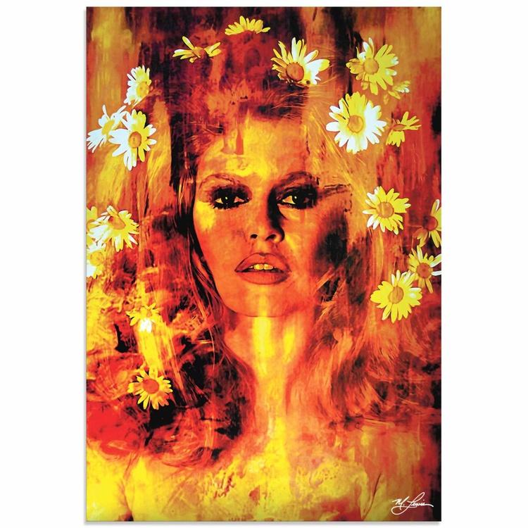 Mark Lewis 'Bridget Bardot Life Captured' Limited Edition Pop Art Print on Metal - Image 0