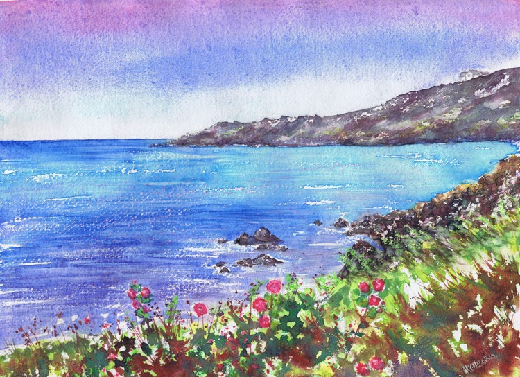 Wild Mallow at Coverack - Image 0