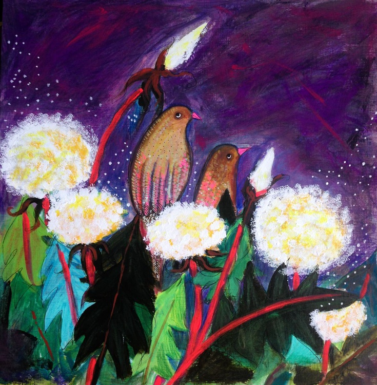 Birds in a dandelion patch - Image 0