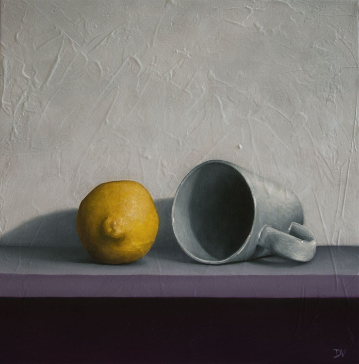 Still life with lemon and tea cup - Image 0