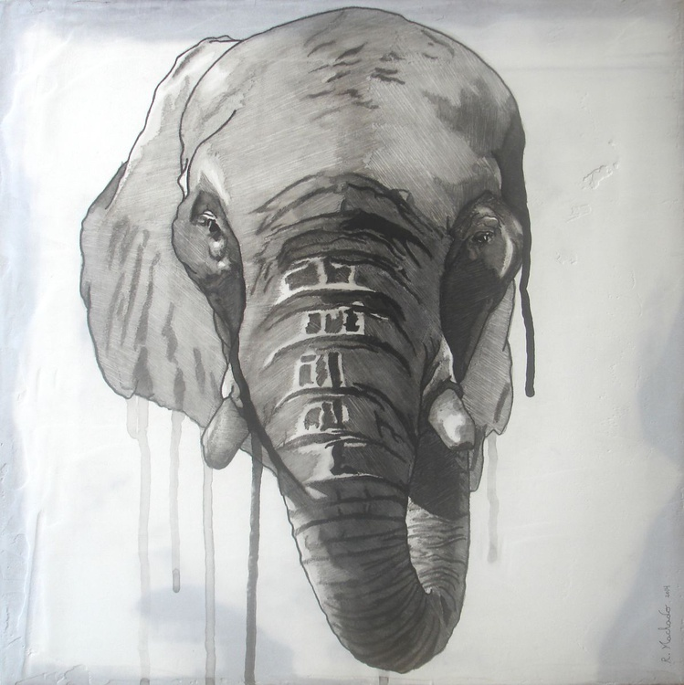 Elephant Carved I - Image 0
