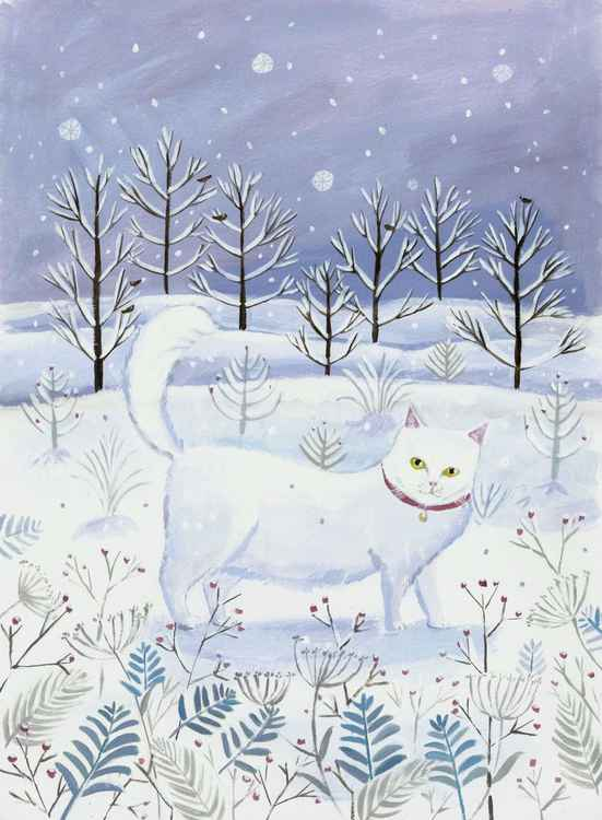 Snowy Cat -