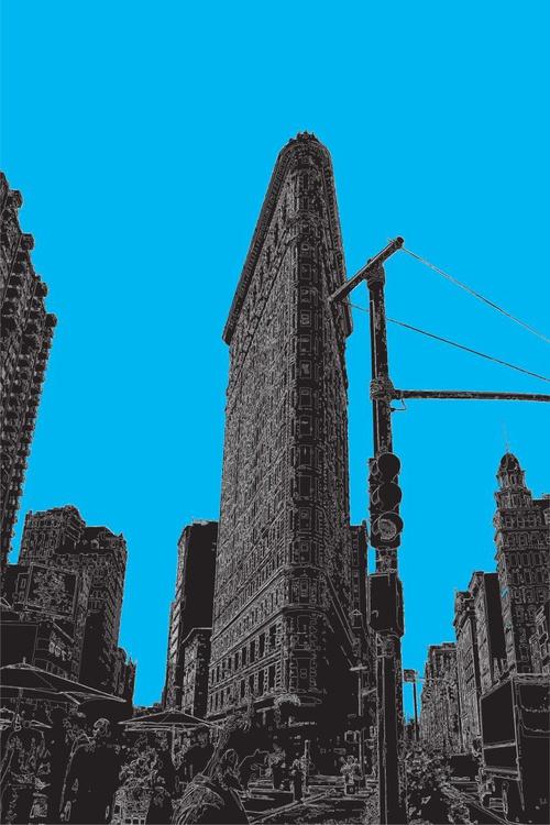 The Flatiron Building 1 NY on blue - Image 0
