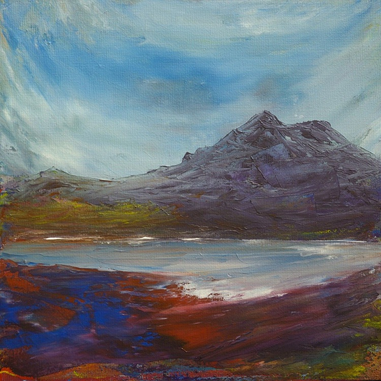 Low Tide, Scottish coastal landscape painting - Image 0