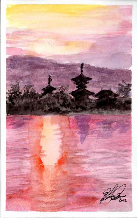 Yakushi-ji sunset #2