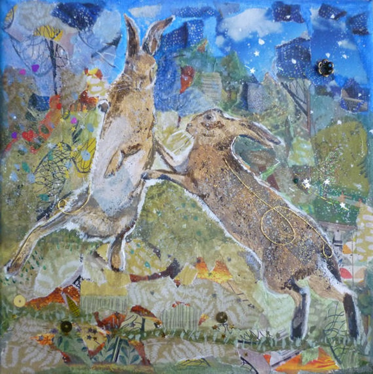 Hares boxing - Image 0