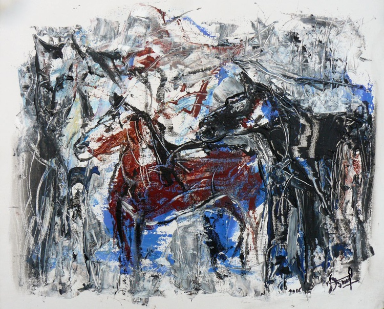 Mountain with horses - Image 0