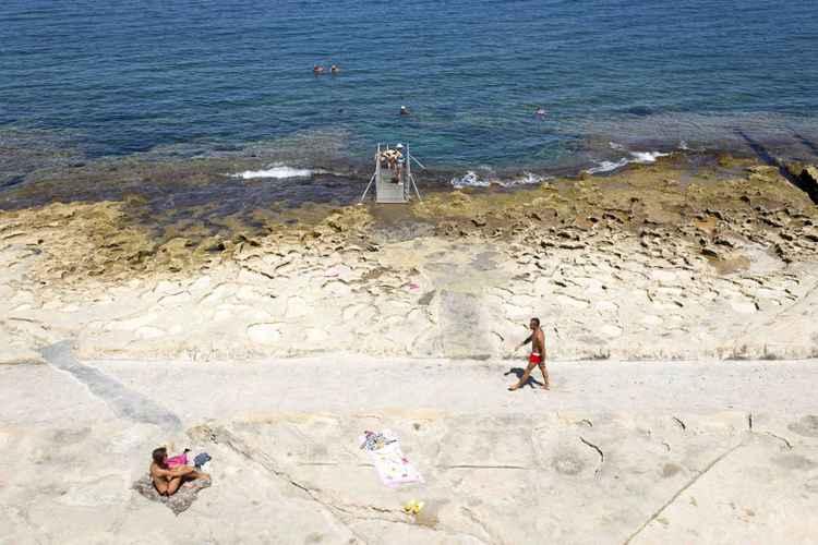 Sliema beach -