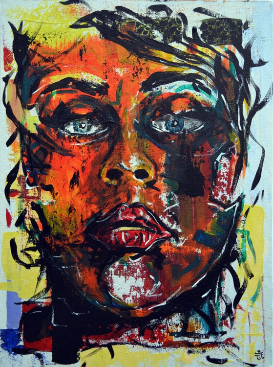 When You Are Done Me? - Original Acrylic Painting on Canvas - Image 0