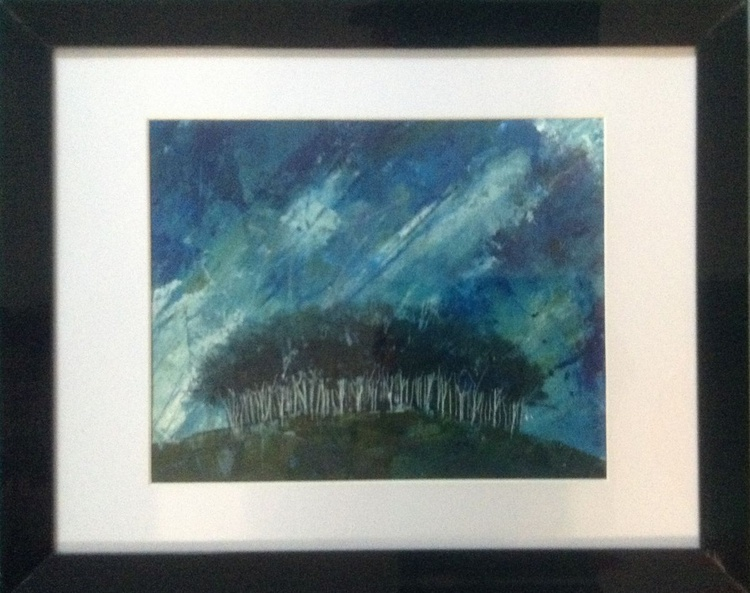 The quick heart of the tempest beat - summer storm ( framed original) - Image 0