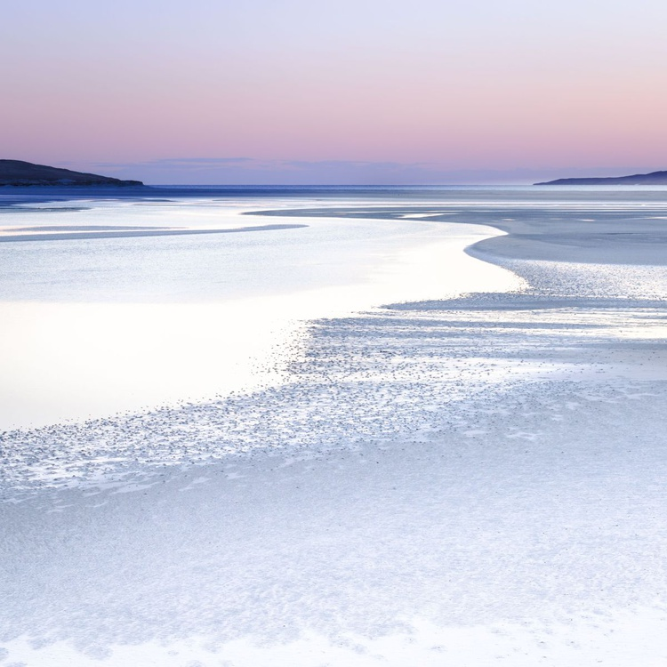 Silence in Silver, Isle of Harris - Extra large beach abstract in Pink and Grey - Image 0