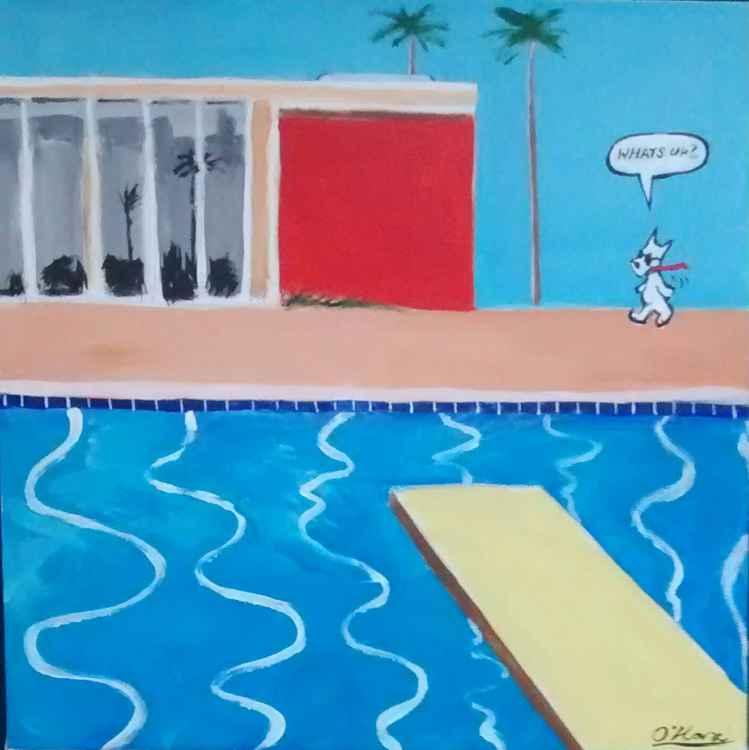 Mondrian House,Santa Monica after Hockney.