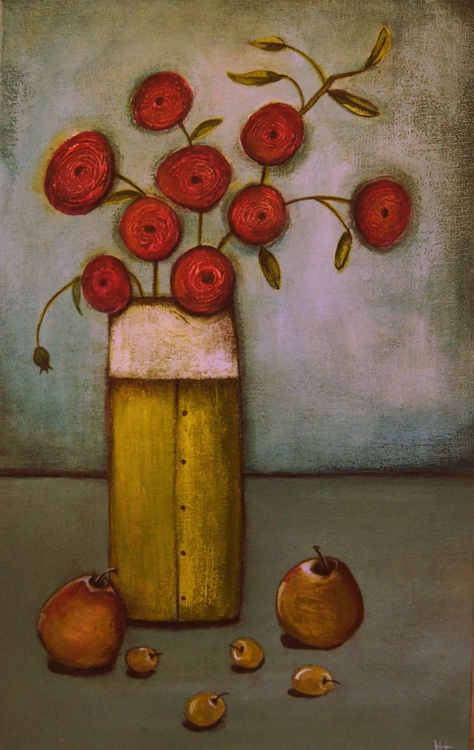 Poppies and Pears.., - Image 0
