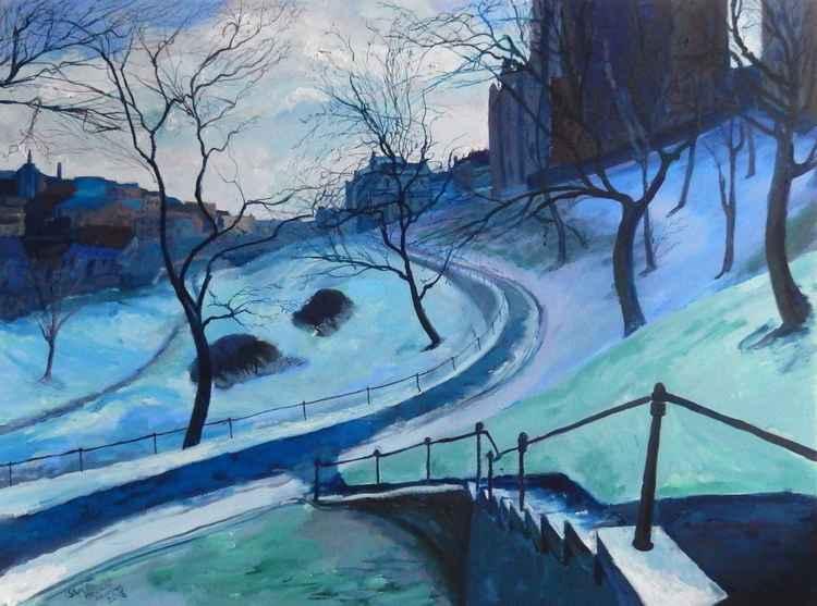 Towards The Calton Hill, Edinburgh, Winter' -