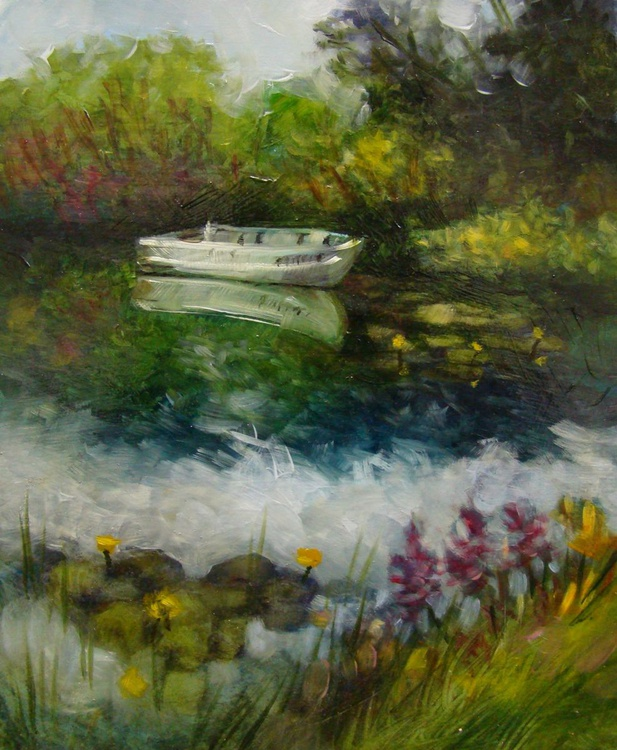 Lone Boat - Port Wing, Plein air - Image 0