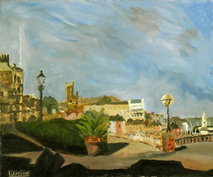 View over Ramsgate - An original oil painting - a lovely colourful panorama! - Image 0
