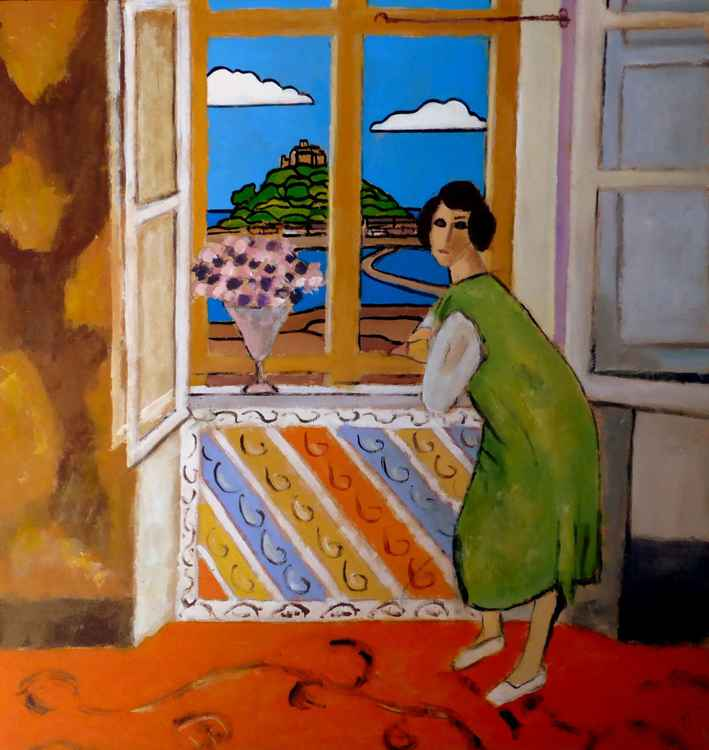 Matisse in Cornwall - St Michael's Mount view. -