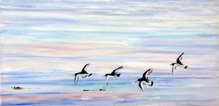 288-Oyster Catchers Fly Past - Image 0