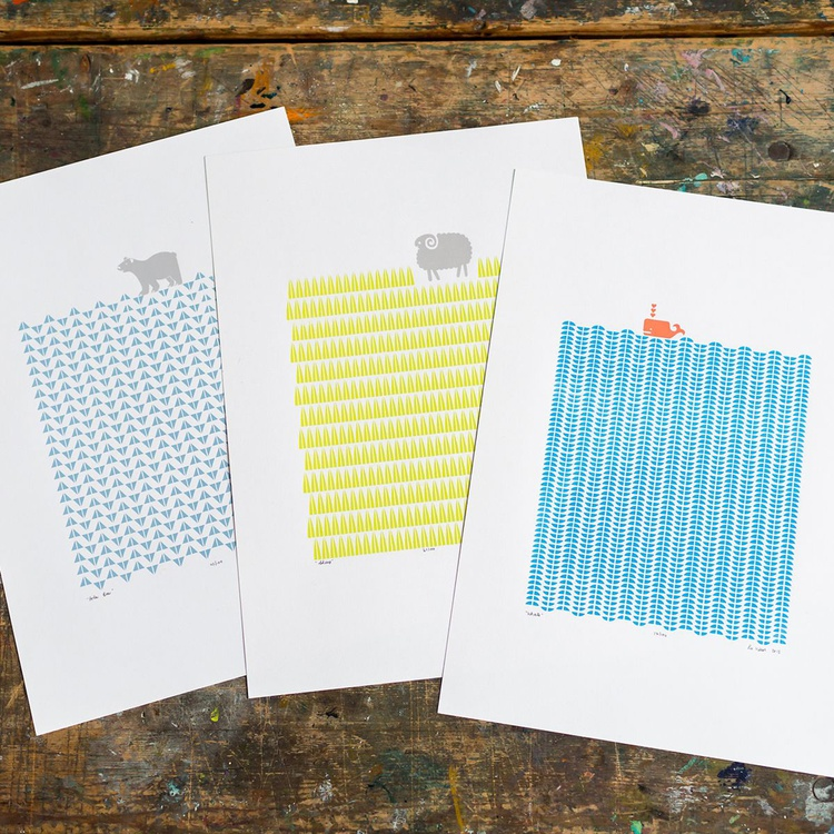 3 x A3 size Unframed Print Bundle - SAVE 25% for Worldwide Delivery - Image 0