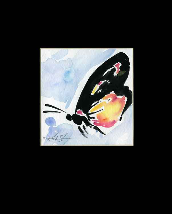 Monarch Butterfly Watercolor Painting, Abstract- Butterfly Love No. 962