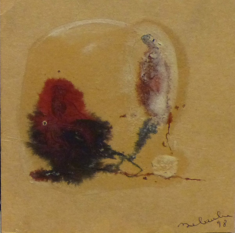 Miniature Abstract Drawing 1, 10x10 cm - Image 0