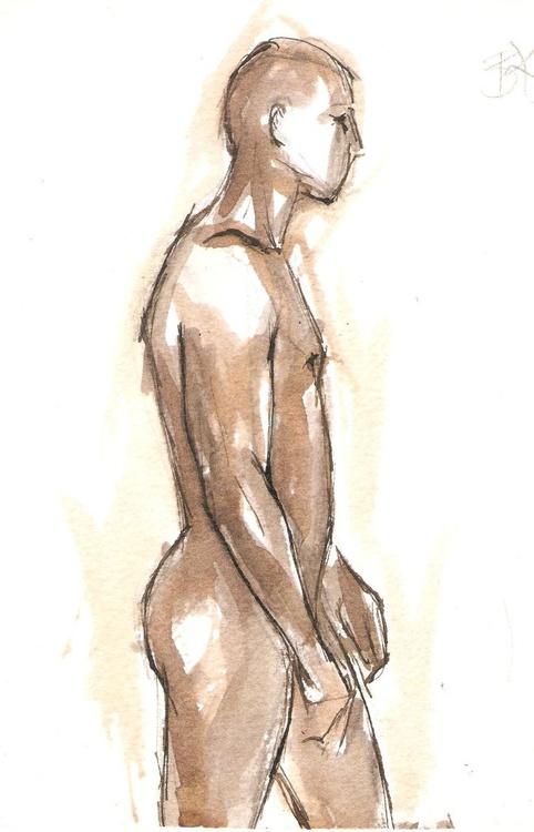 Male Nude, Profile - Image 0