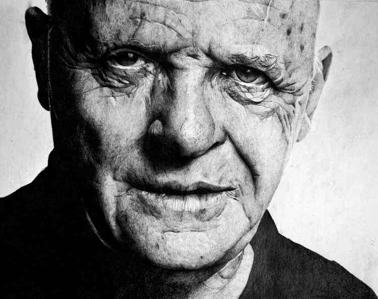 Anthony Hopkins pencil drawing -