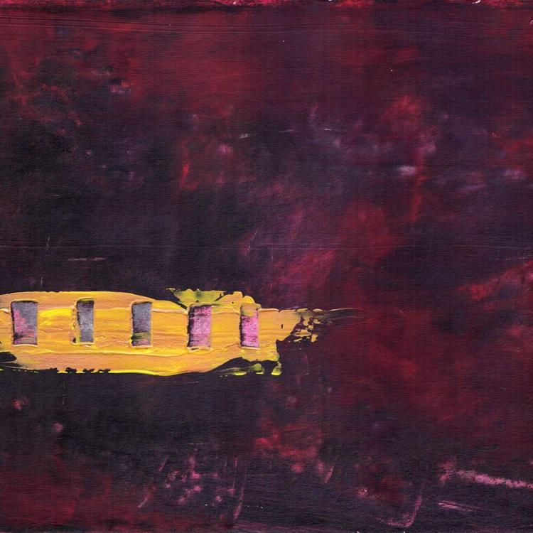 "Gold on Dark Purple - 12x12"" - On Paper - Image 0"