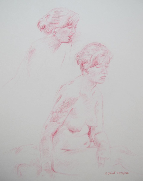studies of seated nude - Image 0