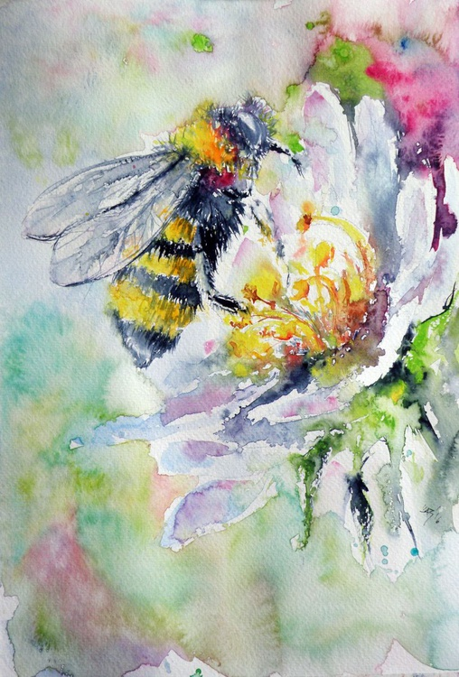 Bee on flower - Image 0