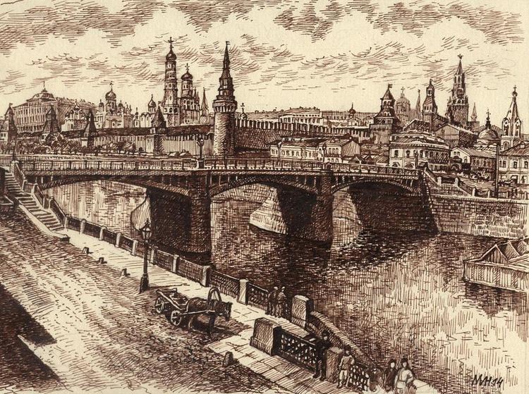 Zamoskvorechye. Moskow 19 century. 1 - Image 0