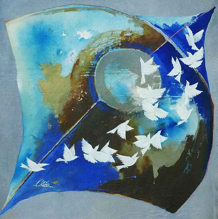 kite & birds -