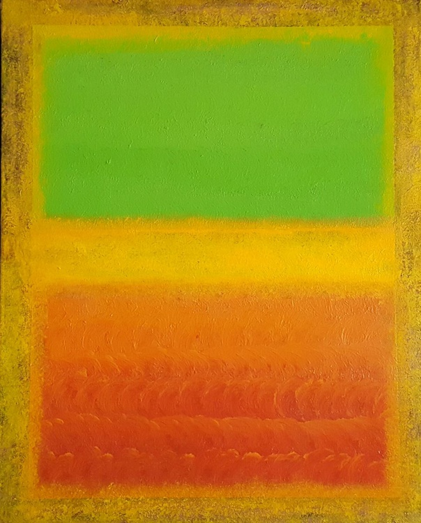 """""""Indecision"""" - 40x50cm abstract painting inspired by Rothko - Image 0"""