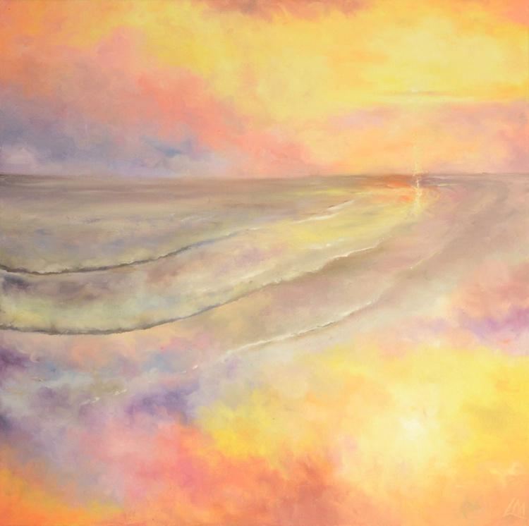 Finger painting - Golden Beach, Holkham in Norfolk - Image 0