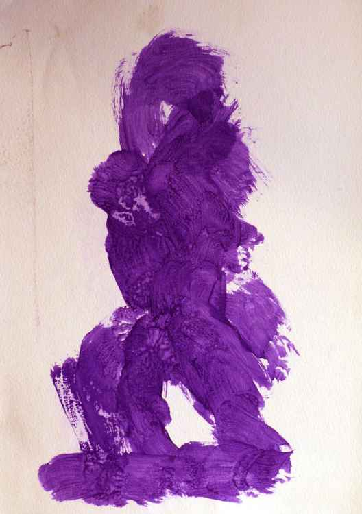 Study in Purple 2, acrylic on paper 29x42 cm -