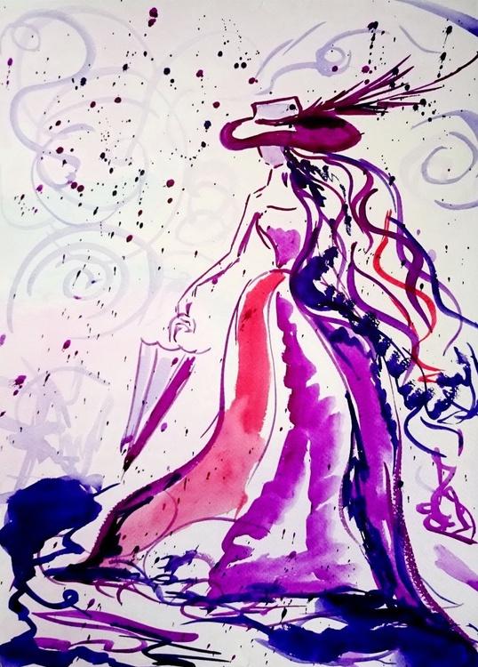 Woman with umbrella - Image 0