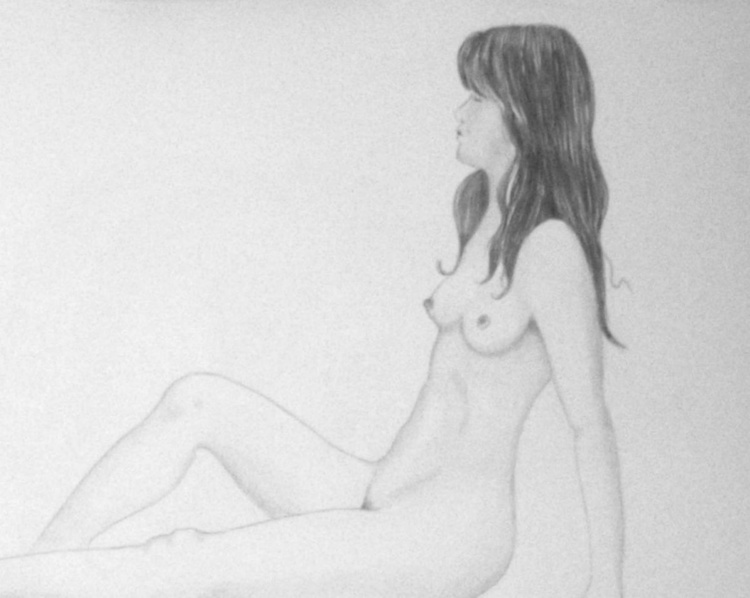 Nude study for painting - Image 0