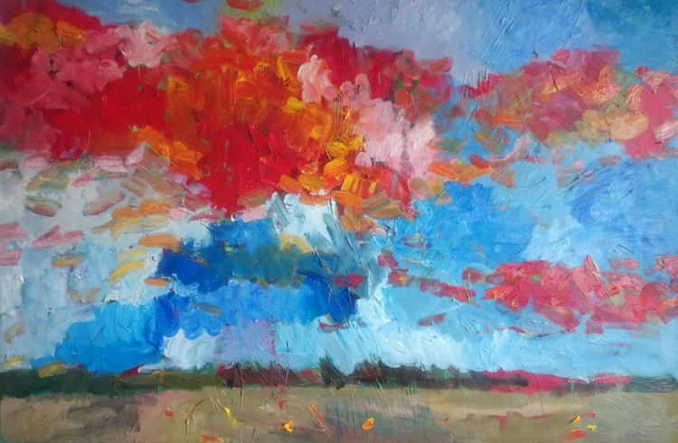Colourful cloud approaching sparrow hill - Image 0