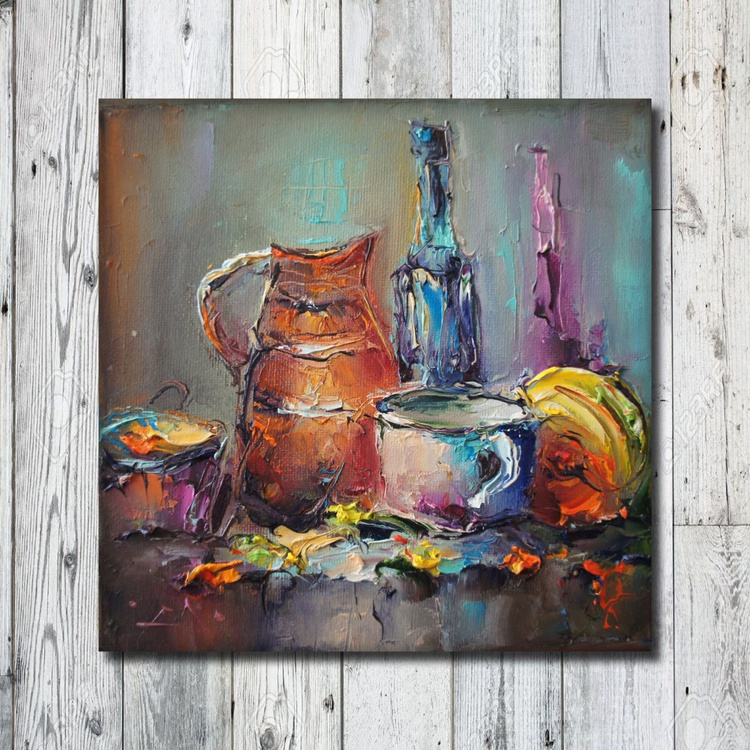 Still life, Oil painting, free shipping - Image 0