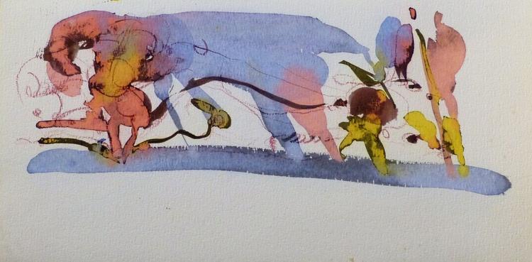 On the Cezanne Island #18, 40x20 cm - Image 0