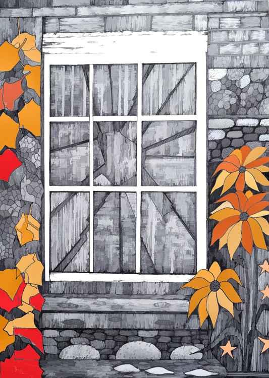 Derelict Window,  Rye East Sussex -
