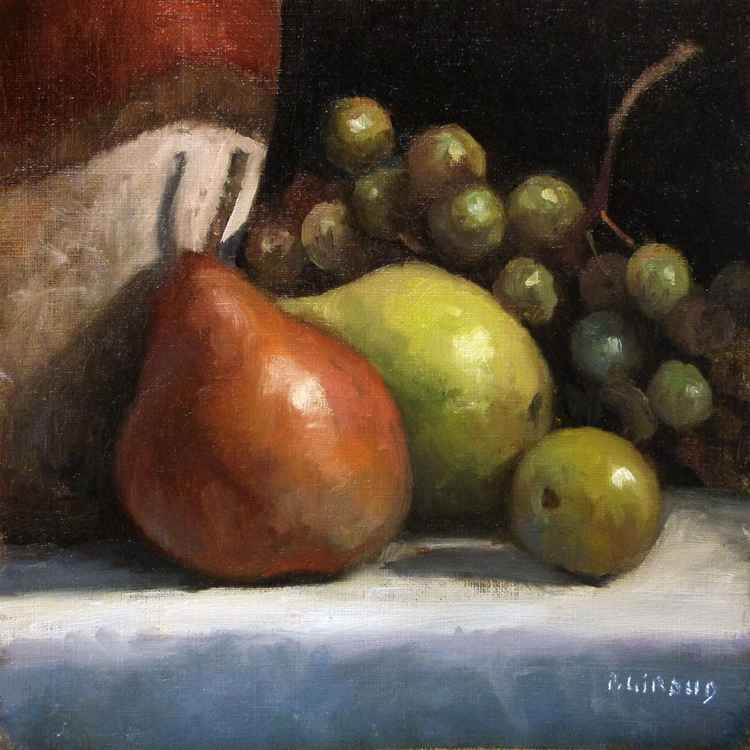 Pears, Grapes and a Plum