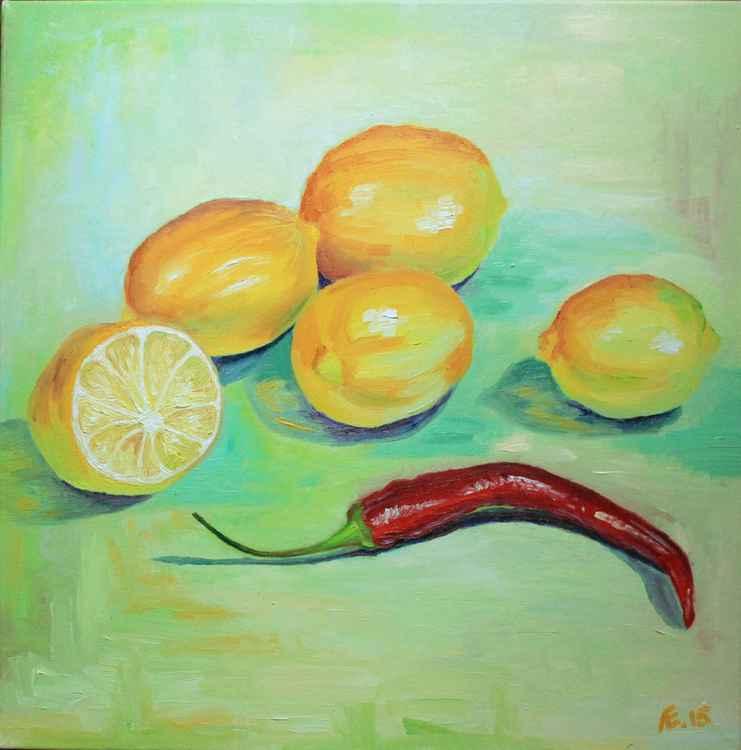 Lemons with hot pepper