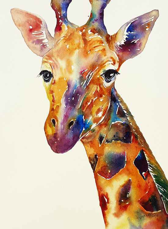 Rainbow Giraffe -