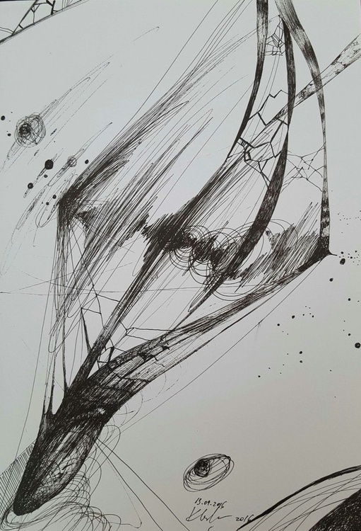 Fascinating way to draw still life cosmic vibration lines energy traveling galaxies - Image 0