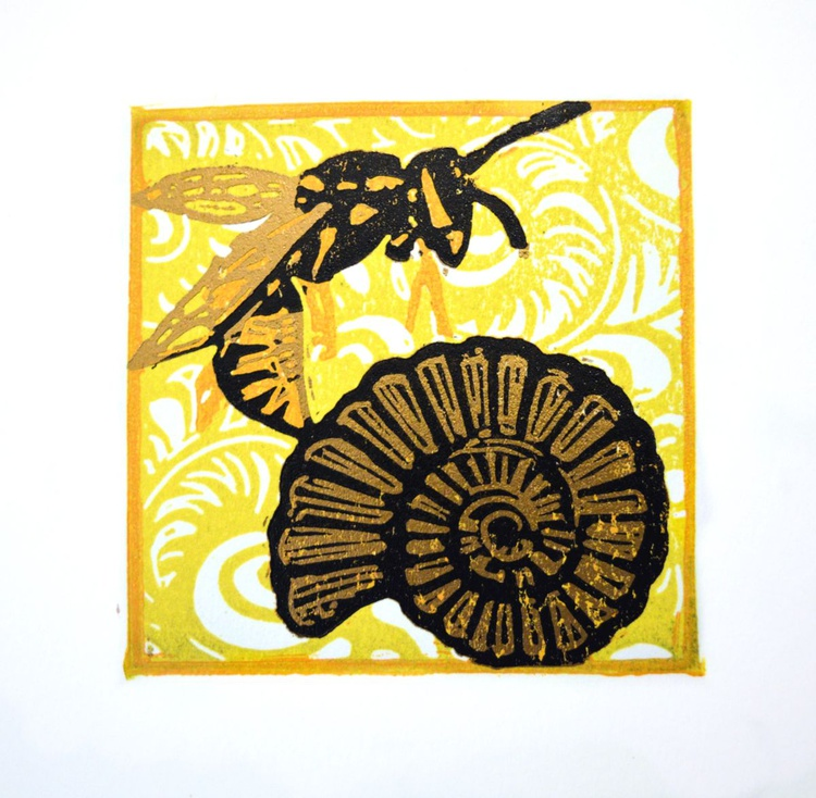 The wasp and the ammonite - Image 0