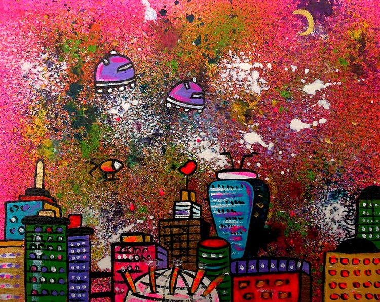 Pink Space City - Image 0