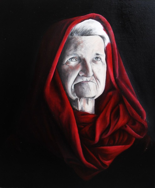 PORTRAIT OLD LADY - Image 0