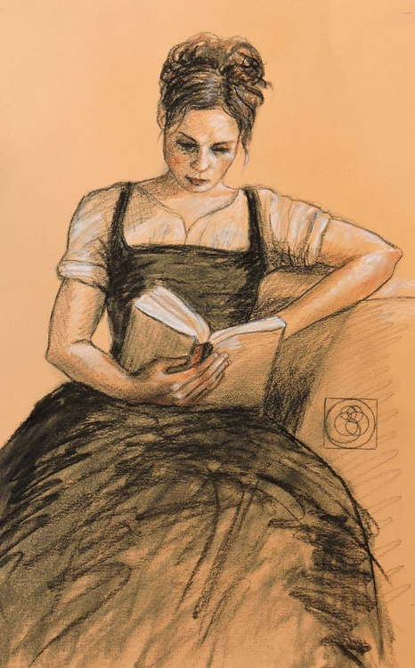 Girl Reading - Image 0