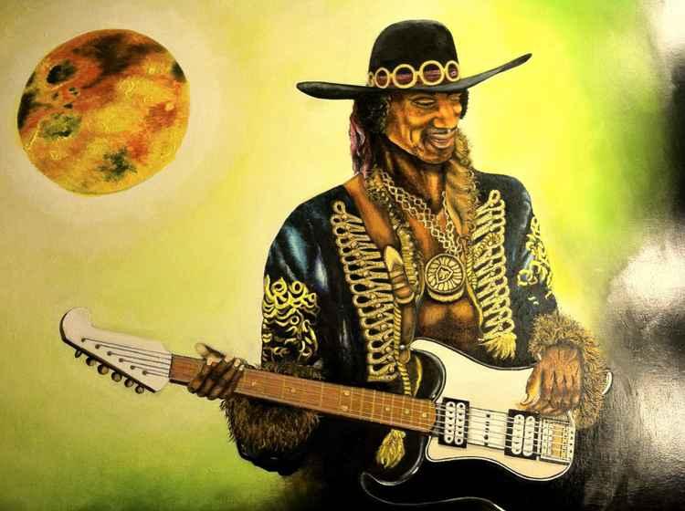 Hendrix Serenades Saturn's  moon Io -